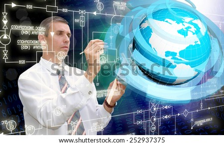 Creation engineering connection technologies.Communications - stock photo