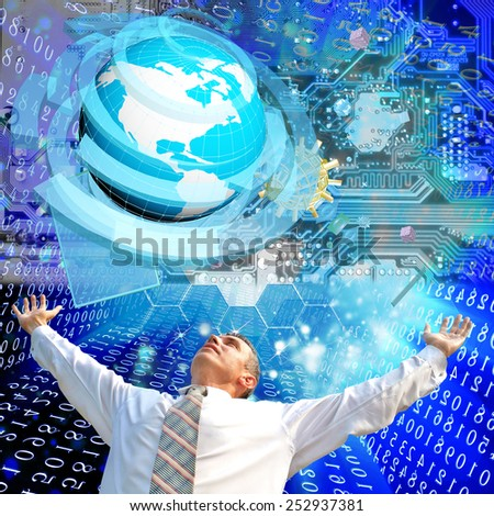 Creation high speed internet technology - stock photo