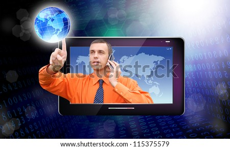 Creation innovative computers technology.Network - stock photo