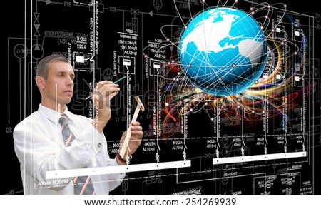 Creation new Internet technologies - stock photo