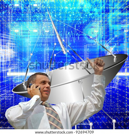 Creation of innovative systems of telecommunication communication and the Internet - stock photo