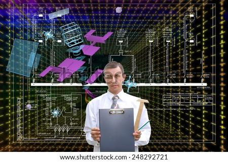 Creation telecommunications technologies - stock photo