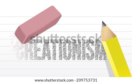 creationism eraser illustration design over a white background - stock photo