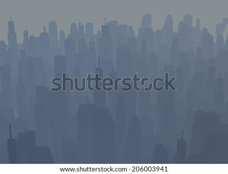Creative abstract city scene - stock photo