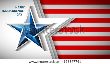 Creative Abstract Happy Veterans Day, USA Independence Day, Illustration.  Card With Abstract Flag - stock photo
