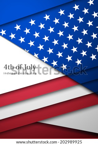 Creative Abstract Happy Veterans Day, USA Independence Day, Illustration.  Card With Abstract Flag