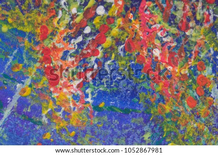 Creative Abstract Watercolor Hand Painted Wallpaper Texture As Background Brush Strokes And Drops
