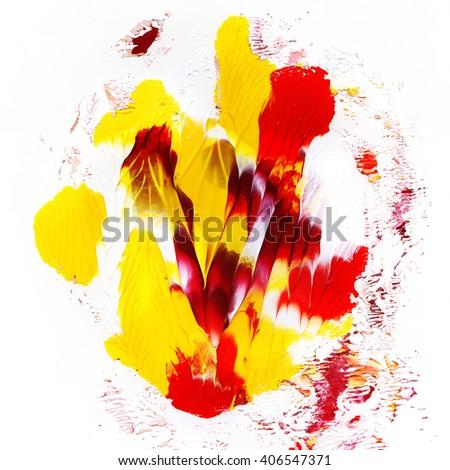 Creative acrylic background design, hand painted - stock photo