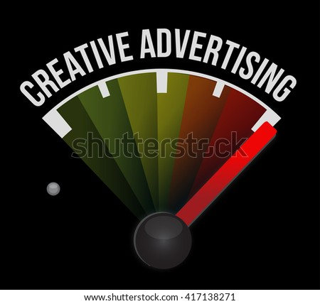 creative advertising meter sign illustration concept design graphic