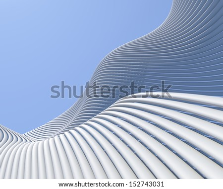 Creative architectural design. Modern futuristic conceptual background - stock photo