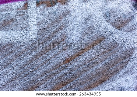 Creative background beautiful concrete carelessly painted blue and white paint, cracks and scratches. Grungy concrete surface. Great background or texture for your project. - stock photo