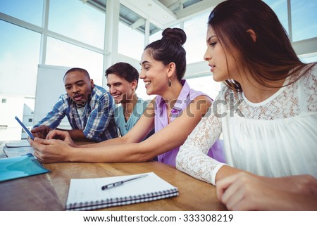 Creative business team at meeting in casual office