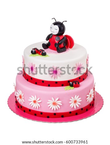 Creative Cake Girl On Her Birthday Stock Photo 600733961