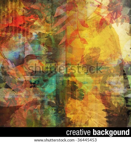 creative collage background (make your own crop, it's big enough :) - stock photo