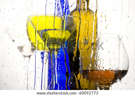 Creative colour background with beverage