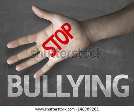 Creative composition with the message Stop Bullying - stock photo