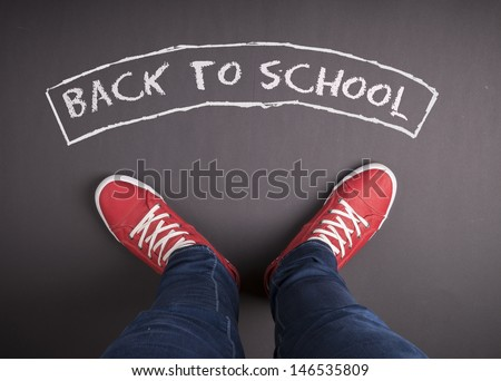 Creative concept with Back to school theme - stock photo