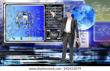 Creative connection technology - stock photo