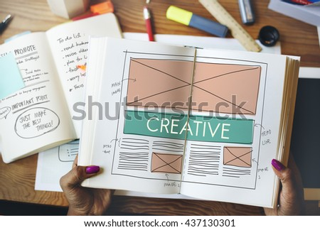 Creative Creatvity Web Design Layout Concept - stock photo