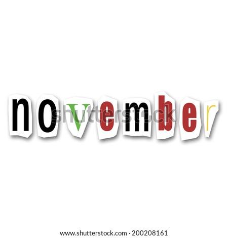 creative divided month - November - stock photo