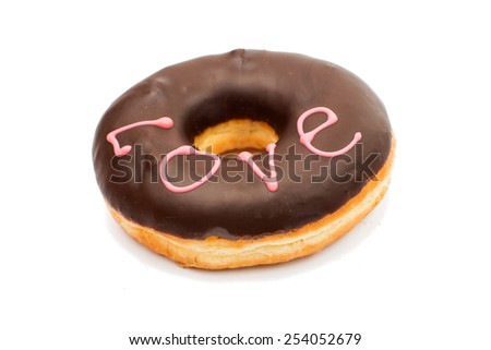 creative donuts on a white background
