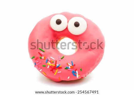 creative donuts on a white background  - stock photo