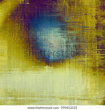 Creative elegant design used as retro background for your art project. With grunge texture and different color patterns: yellow (beige); blue; purple (violet); cyan; gray - stock photo