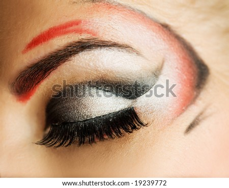 Creative eye paint