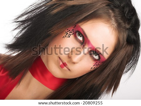 Creative face paint