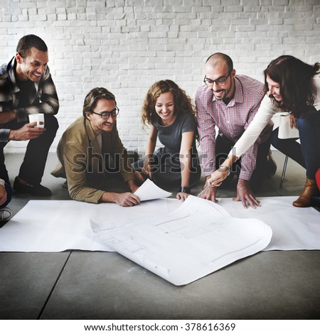 Creative Group Working Designing Concept - stock photo