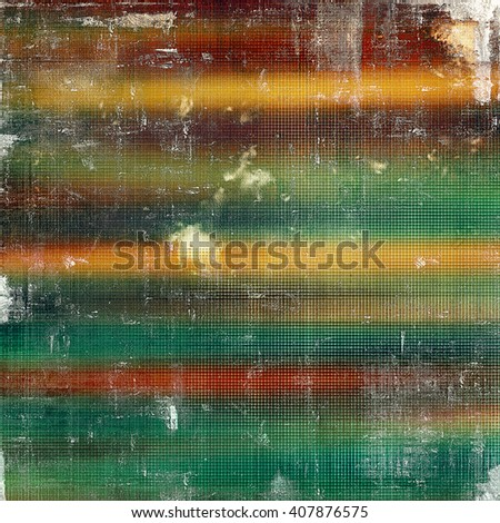 Creative grunge background in vintage style. Faded shabby texture with different color patterns: yellow (beige); brown; red (orange); green; blue; white - stock photo