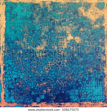 Creative grunge background in vintage style. Faded shabby texture with different color patterns: yellow (beige); brown; blue; cyan