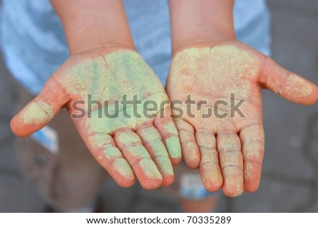 Creative hands - stock photo