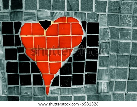 Creative heart mosaic - stock photo