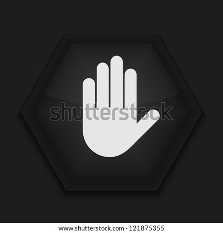 creative icon on black background.