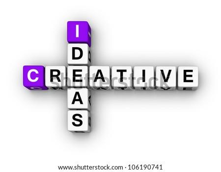 Creative Ideas  (cubes crossword series) - stock photo