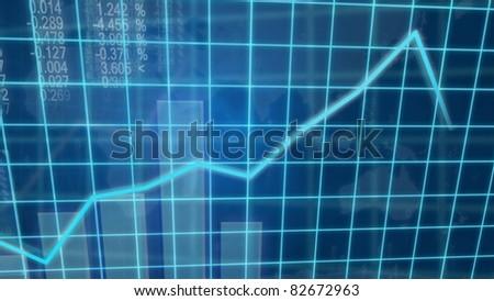 Creative image of economic growth concept - stock photo