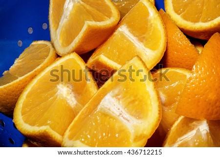 Creative Image of Fresh Ripe Juicy Orange Segments  - stock photo