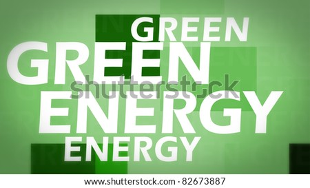 Creative image of green energy concept - stock photo