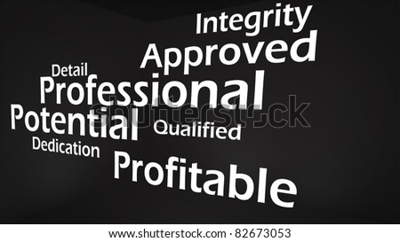 Creative image of professional value concept