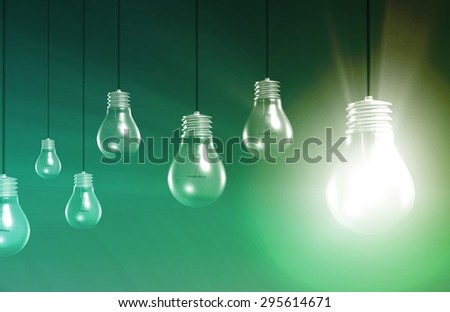 Creative Innovation and Glowing Concept as a Art - stock photo