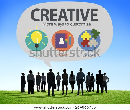 Creative Innovation Vision Inspiration Customize Concept - stock photo