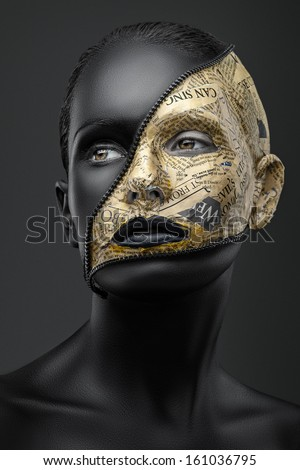 creative make-up - stock photo