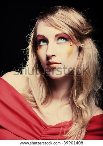 Creative makeup. Close-up - stock photo