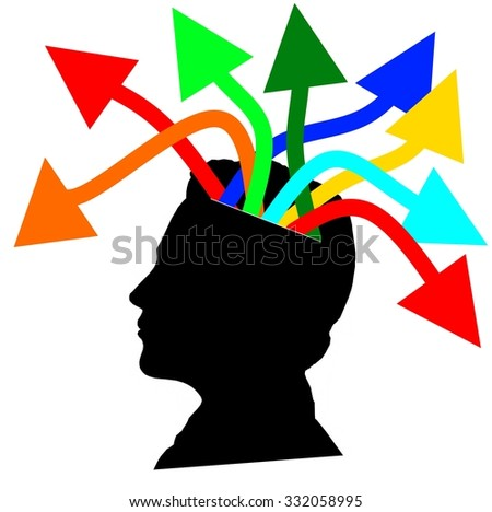 Creative Mind at work - stock photo