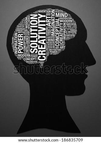 Creative Mind-text graphics and arrangement concept - stock photo
