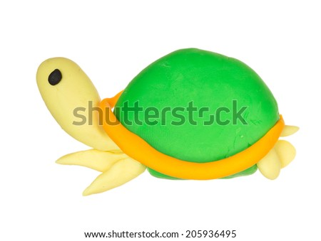 Creative modelling clay model, isolated - stock photo