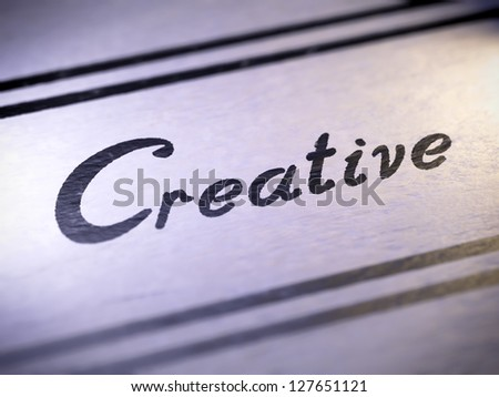 creative ( my own font )  Full collection of icons like that is in my portfolio - stock photo