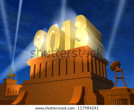Creative New Year 2013 concept - stock photo
