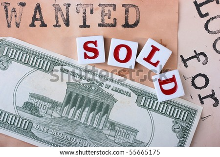 Creative on a theme wanted sold, with use of the American denomination and old headings from announcements.